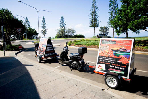 you see me billboards advertising scooters mobile queensland sunshine coast